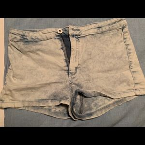 "Divided Shorts - ""Acid washed"" Jean shorts, size 6"
